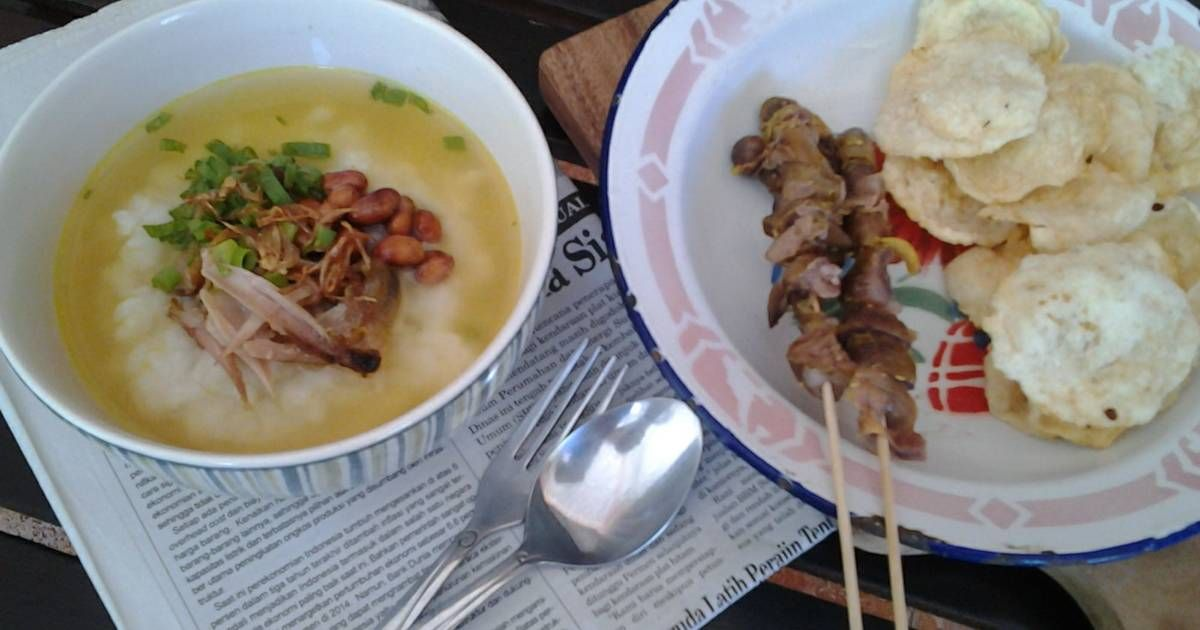 Resep Bubur Ayam Kuah Kuning Oleh Dian Handayani Resep Resep Resep Masakan Indonesia Resep Makanan