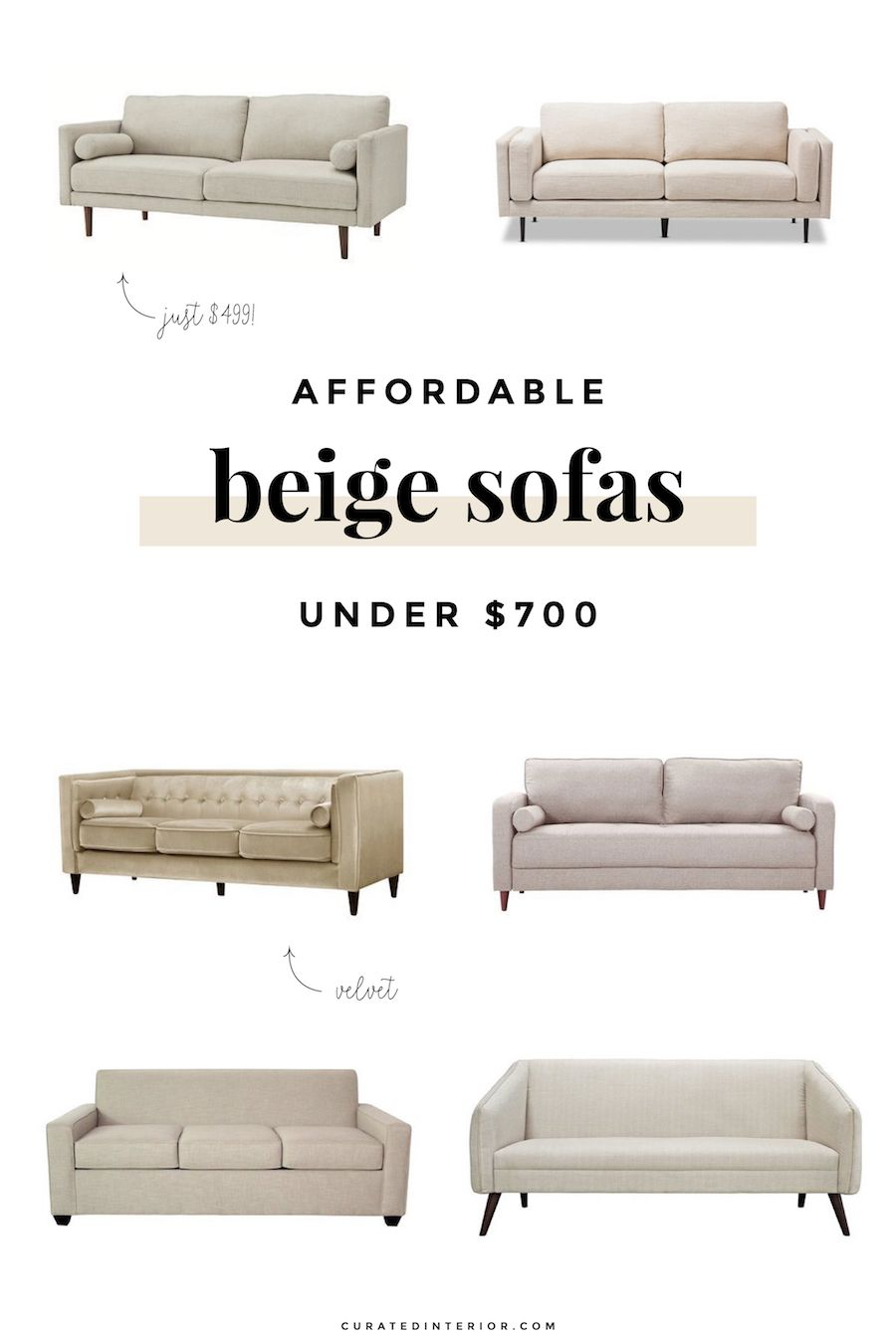 Affordable Beige Sofas Under 700 For The Living Room Neutral Cream Off White Couches I Love