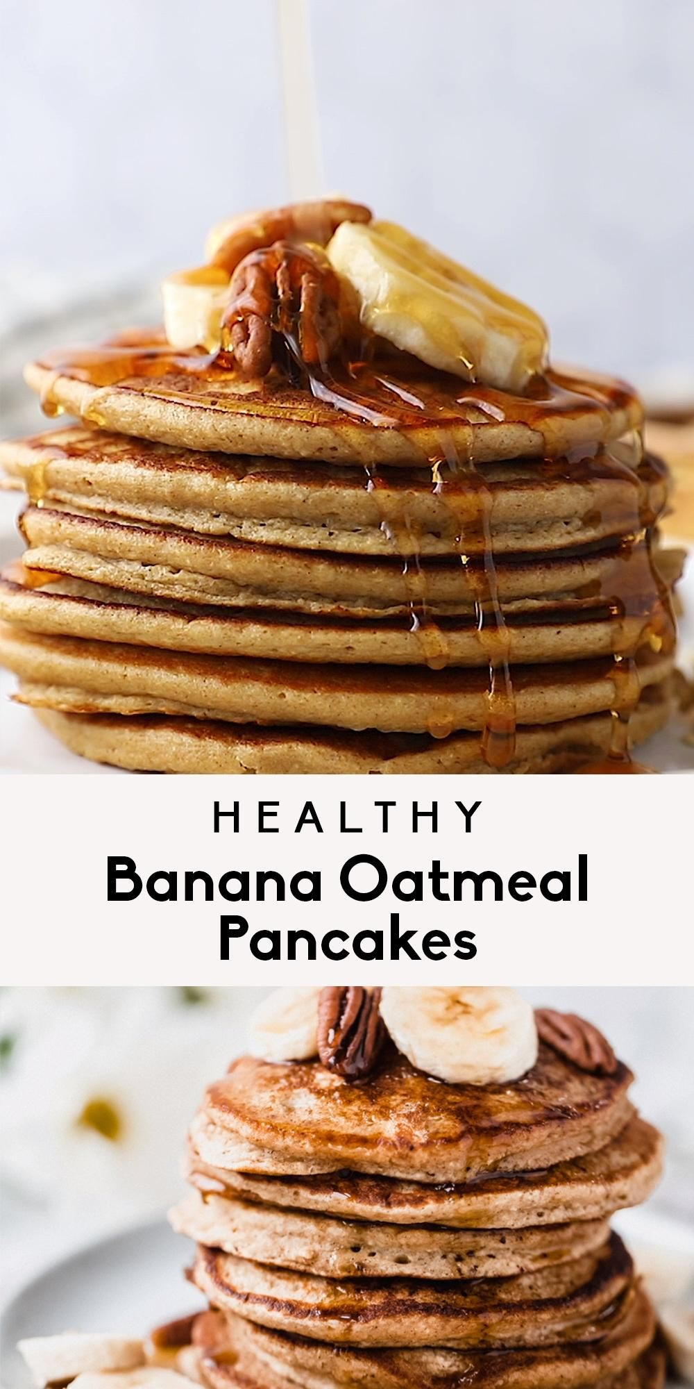 Healthy Banana Oatmeal Pancakes (made in the blend