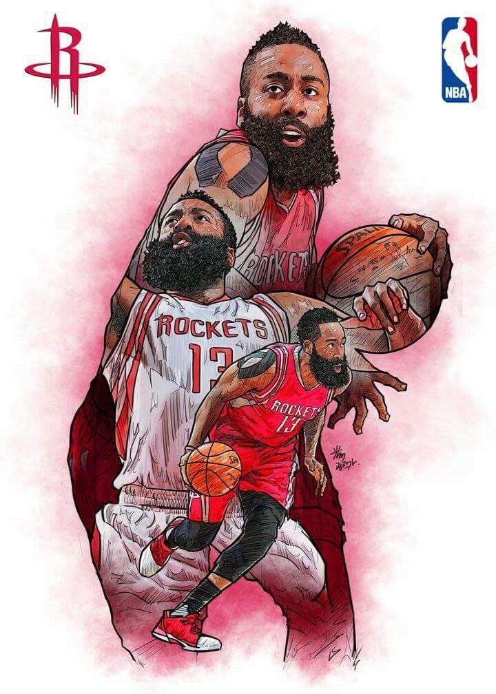 James Harden Mvp Basketball Nba Basketball Art Basketball Drawings