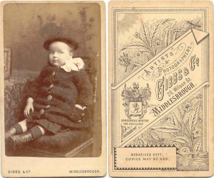 Carte De Visite Gibbs Co Middlesbrough Photographer 20 Wilson Street