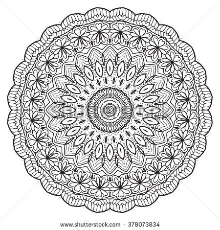 Adult Coloring Page Mandala Vector For Art Book Zendoodle Round Zentangle Pages Design Ornament Lace Pattern