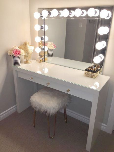 Homemade Makeup Vanity Mirror - Makeup Artist Career each ...