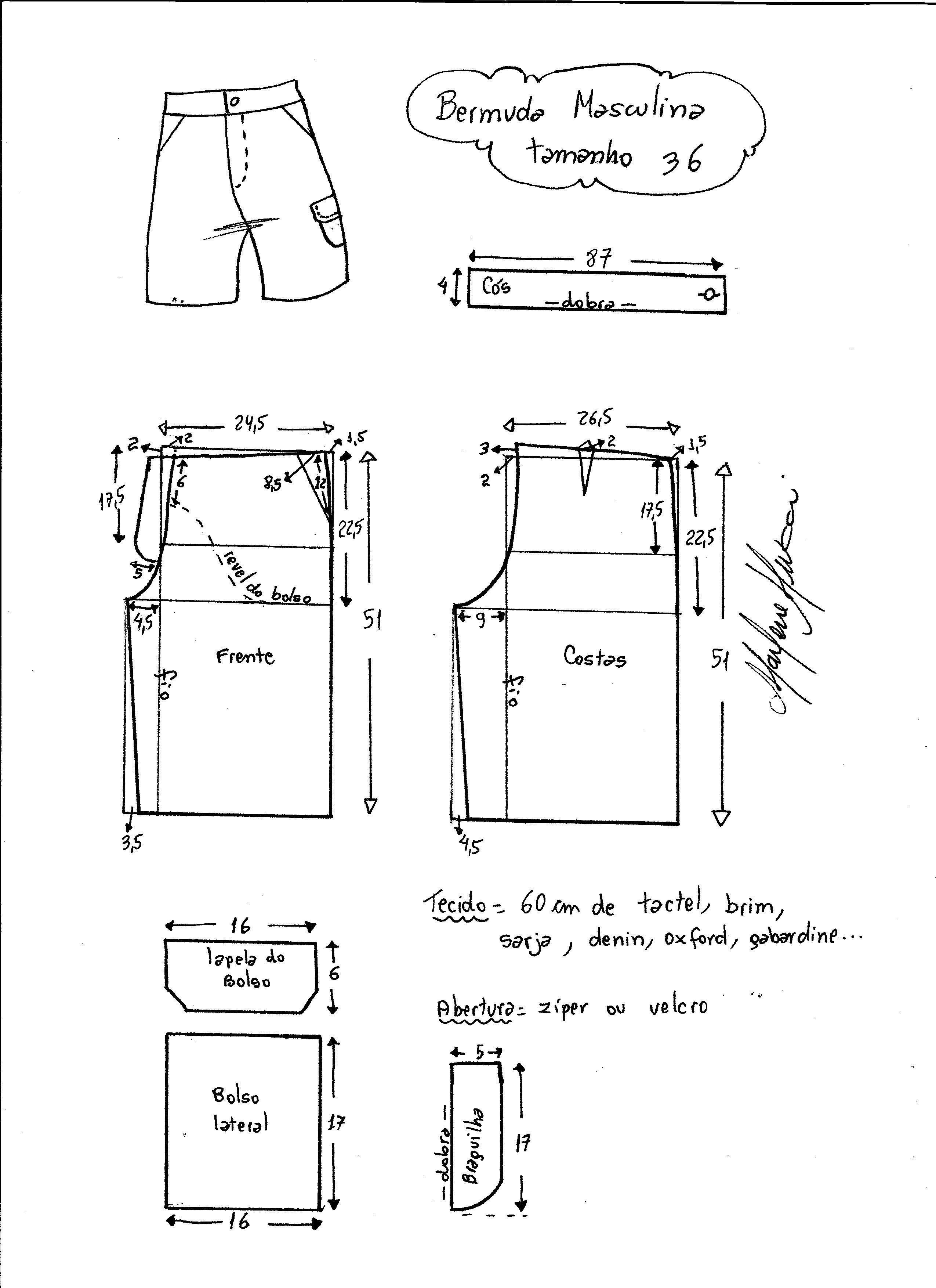 Masculino: Bermuda | patrones | Pinterest | Sewing, Sewing shorts y ...