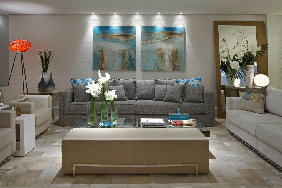 Resultado de imagem para decora o em cinza e azul salas - Tom interiores ...
