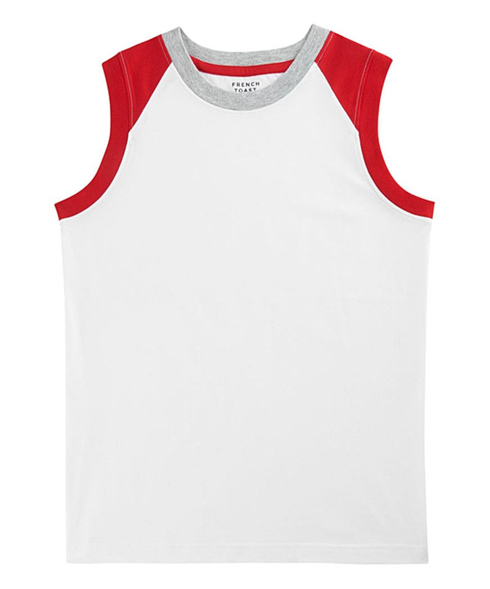 Loving this French Toast White Raglan Muscle Tee - Toddler & Boys on #zulily! #zulilyfinds