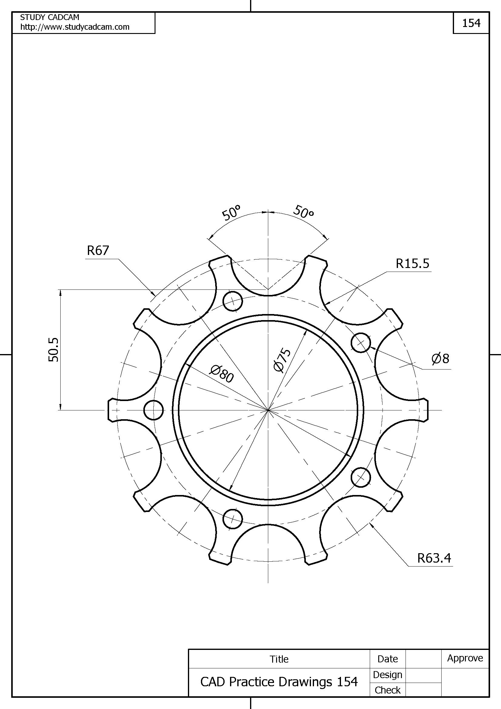 Cad Practice Drawings Panosundaki Pin