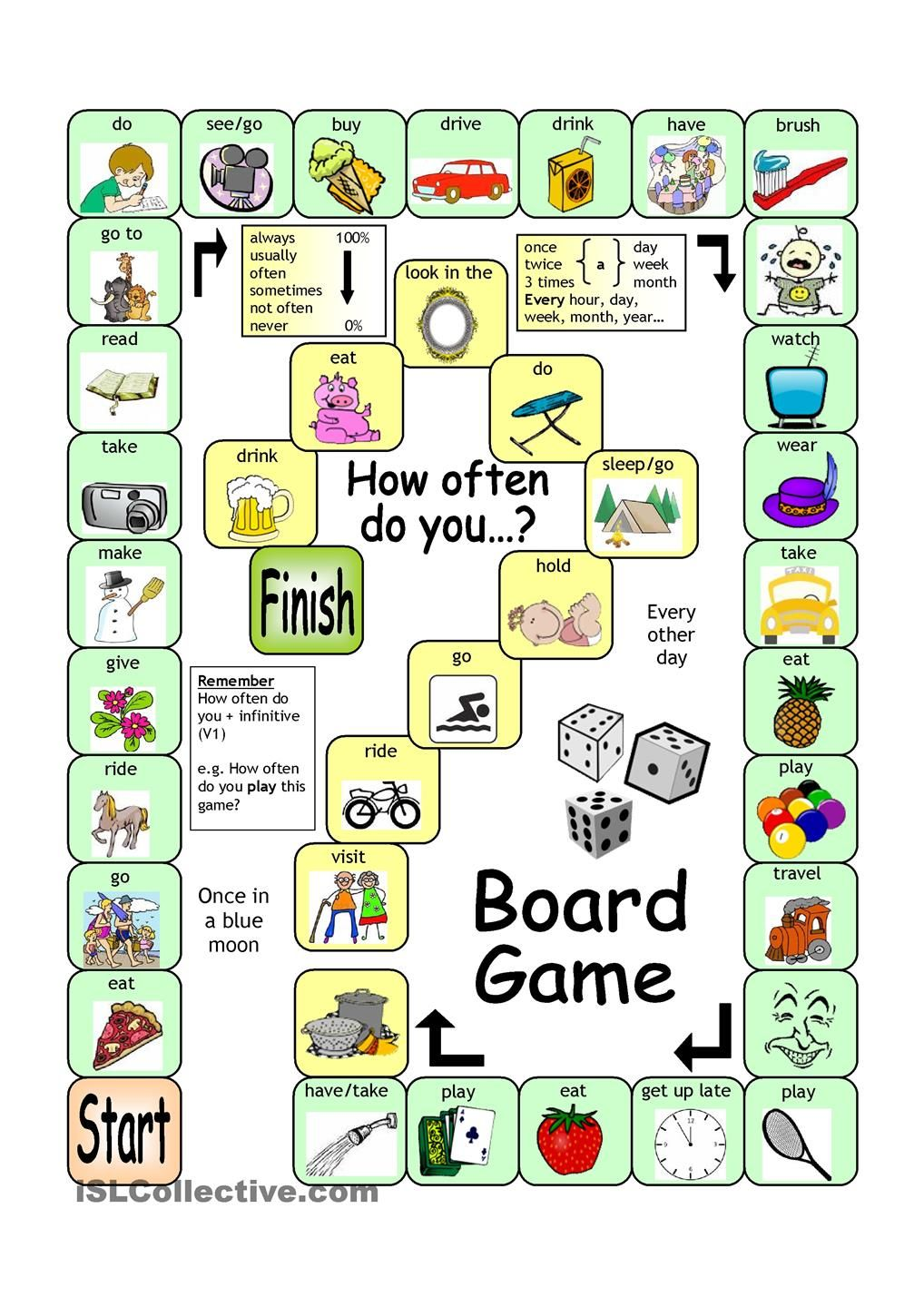 Como Se Dice Mesa En Inglés Board Game How Often For English Teachers Juegos En Ingles