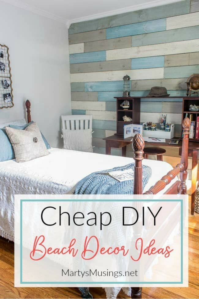 Inexpensive DIY Beach Decor Ideas and Small Bedroom Reveal ...