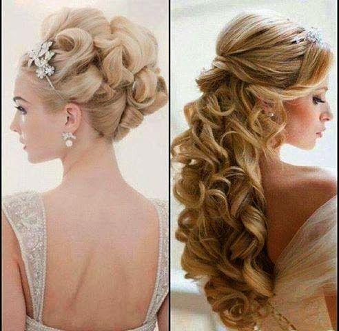 Coiffure mariee 2014, idee chignon et cheveux laches mariage 2014   Coiffure mariée, Idée ...
