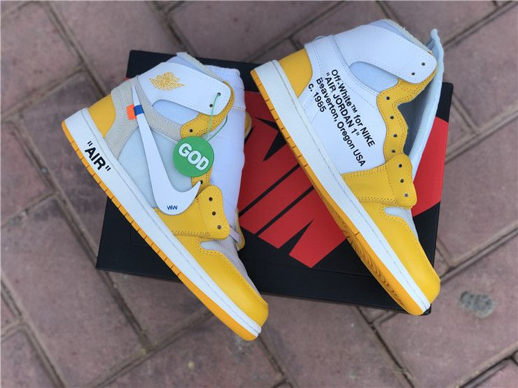 Off White X Air Jordan 1 Canary Yellow In 2020 Air Jordans