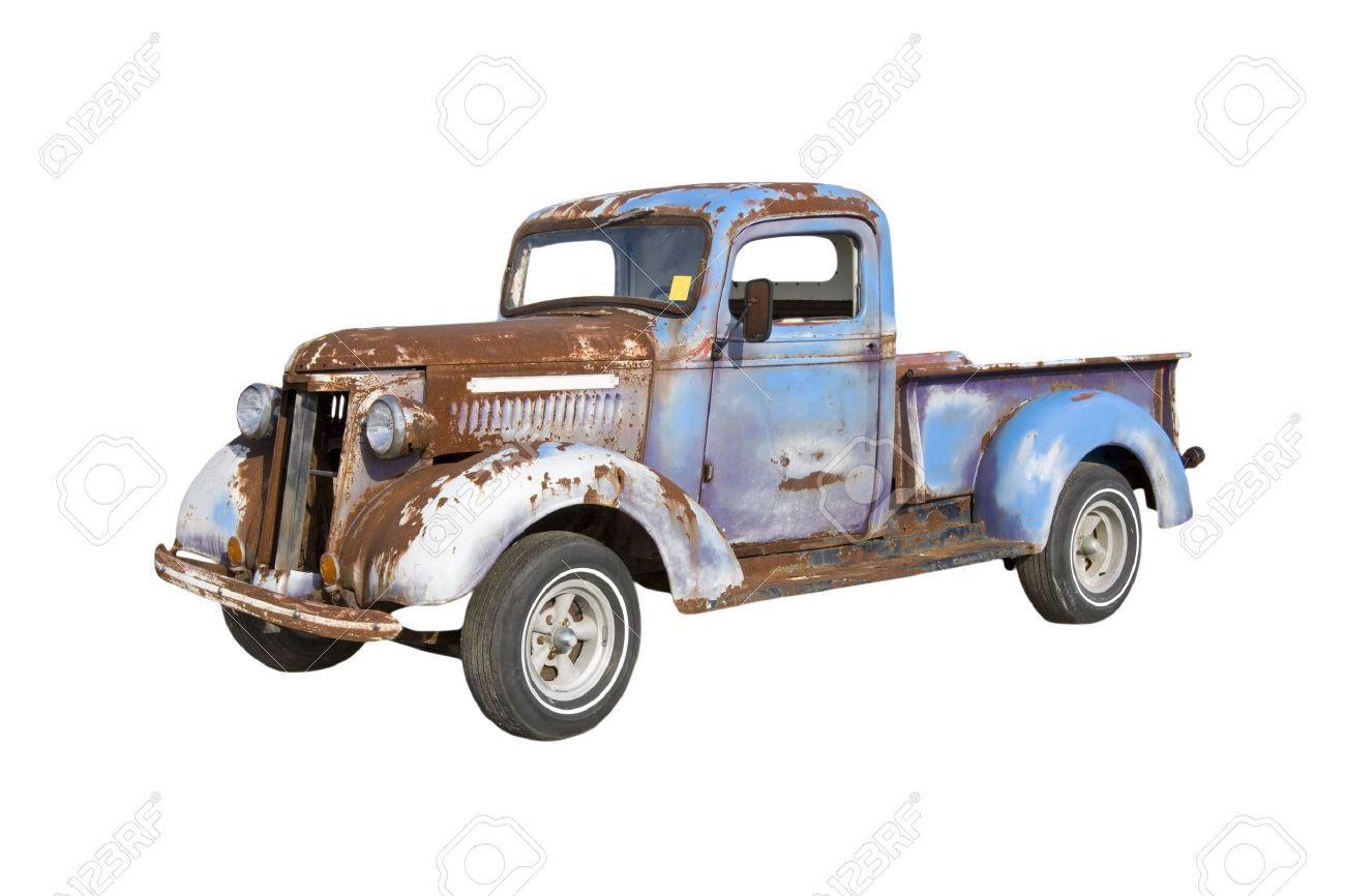 Old Pickup Truck Starter For A Major Restoration Stock Photo ...