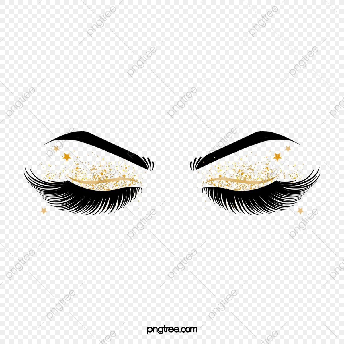 Hand Painted Black Curled Thick Eyelashes Star Eye Makeup Eyebrow Clipart Eyes Black And White Hand Painted Png Transparent Clipart Image And Psd File For F Thicker Eyelashes Star Eyes Black