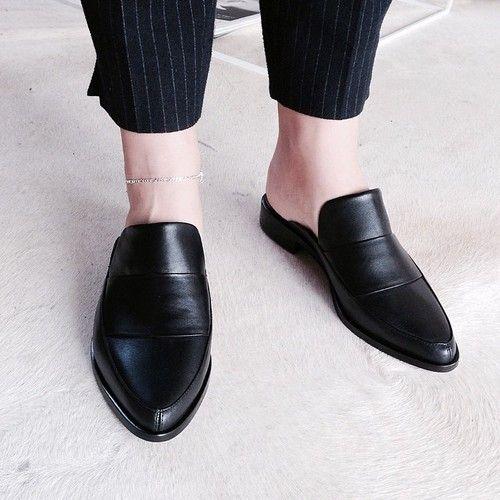 Tibi - Denni leather mules