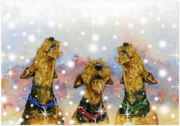 Airedale Terrier Christmas Cards Airedale Terrier Terrier Wire Fox Terrier