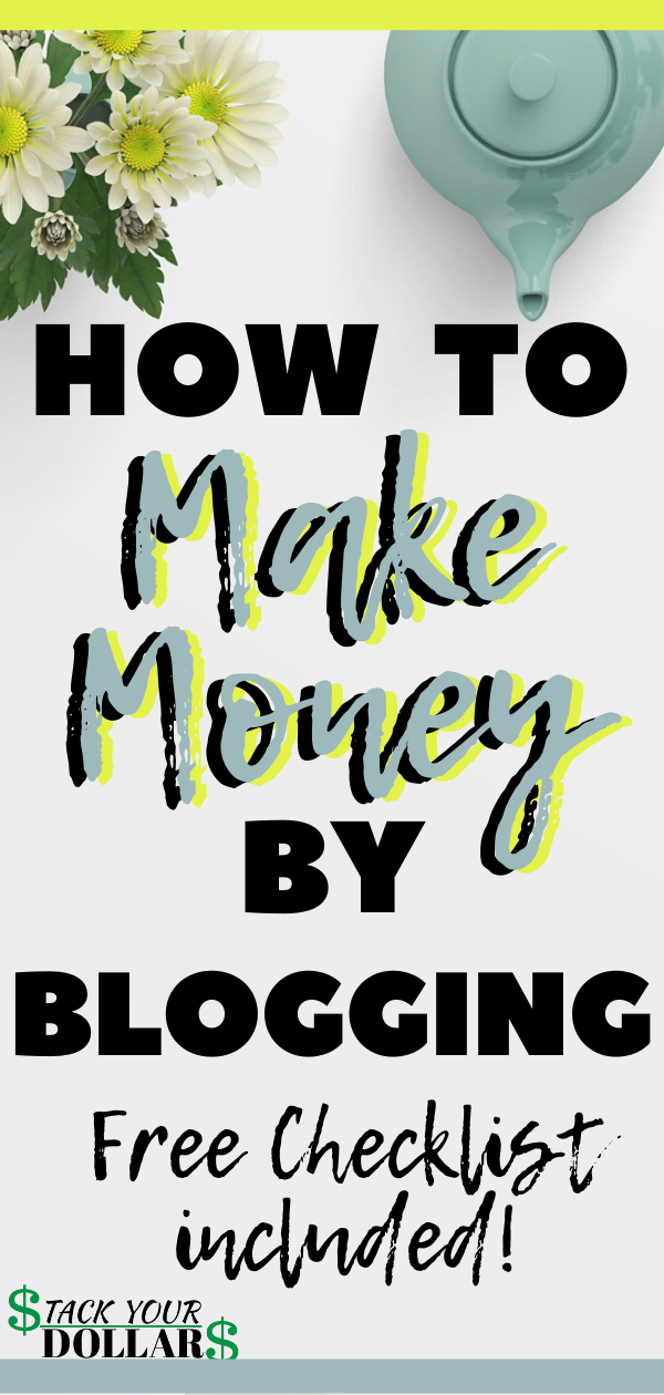 If you've been wondering how to start a blog and make money, you need to read this post. You will also learn how much money money you can make blogging. Blog entrepreneurs make money by several means, including ads, sponsored posts, affiliate marketing, products and services. This post will teach you how to start your blog step by step, and more useful info that will help you start your own blog and GET PAID! #startblogging #bloggingbeginner #bloggingtips #bloggingbusiness #stackyourdollars