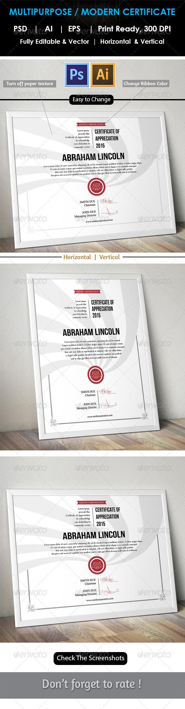 Easy Simple Multipurpose Certificate GD007 | Pinterest | Urkunde