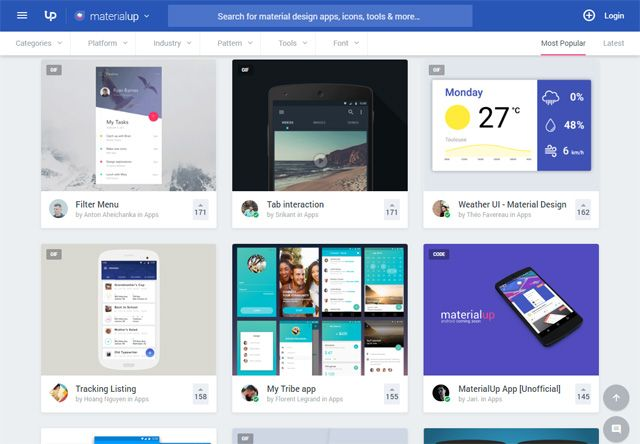 11 Sites To Help You Find Material Design Inspiration Material Design Design Inspiration Web Design Inspiration