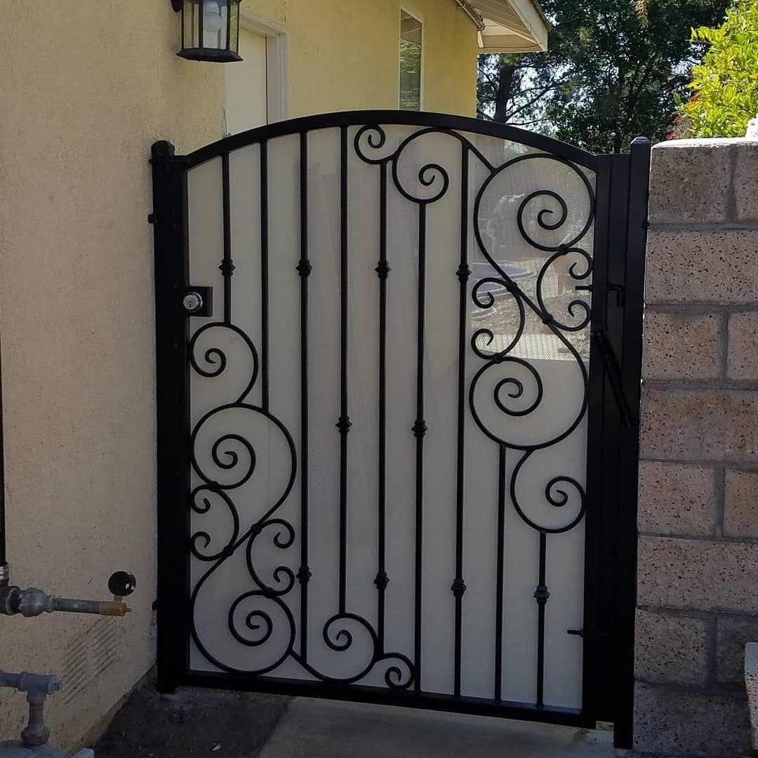 Scroll Gate Design Metalwork Gates Fenceworld Wroughtiron