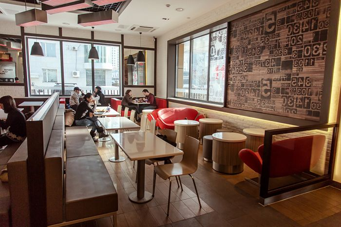 Kfc mongolia lounge area interior design for the rd