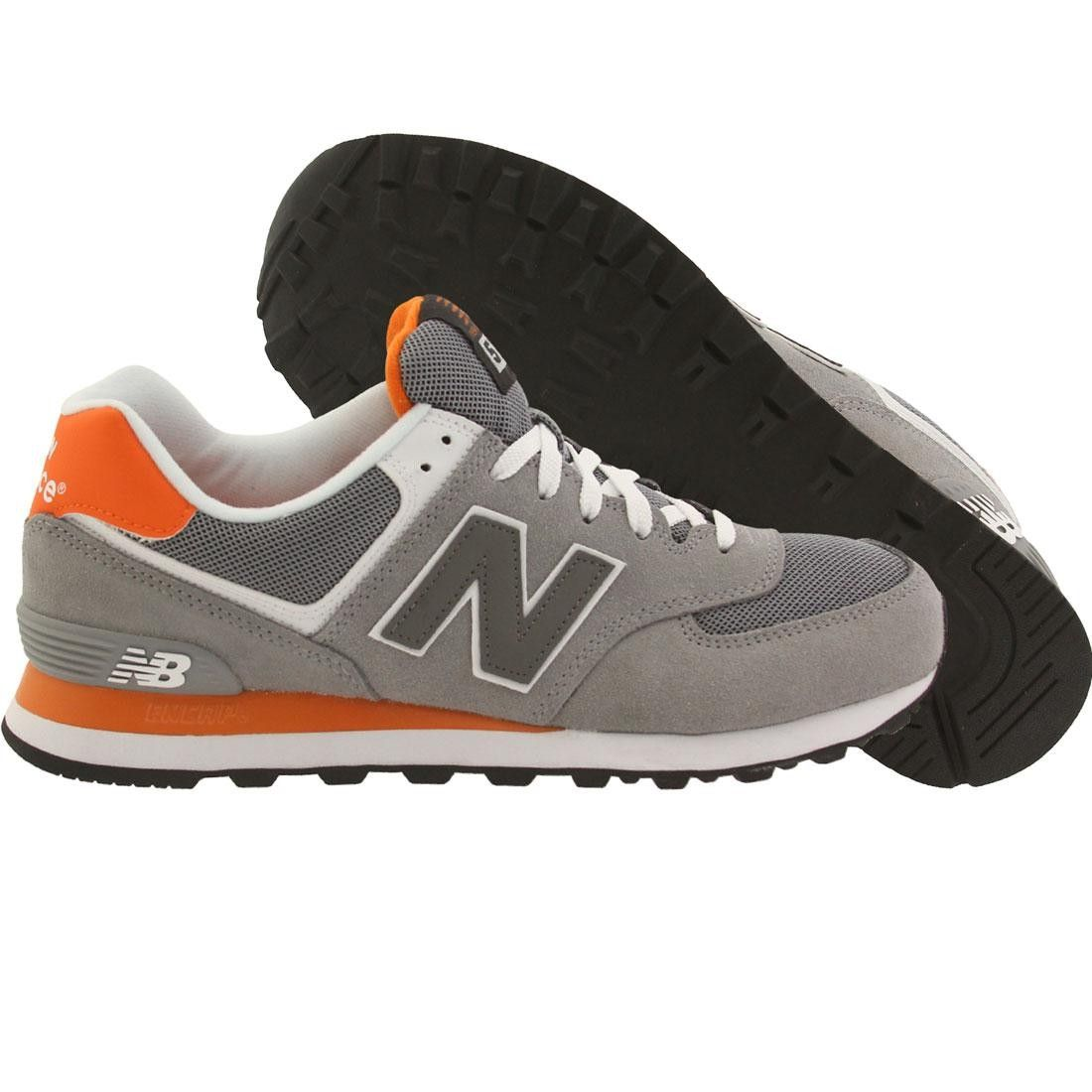 New Balance Men 574 ML574CPL (gray orange light grey