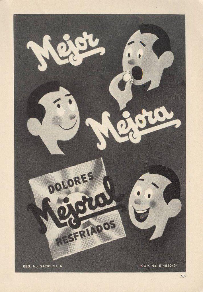 Mejor, mejora, mejoral | Vintage advertisements, Character, Fictional  characters