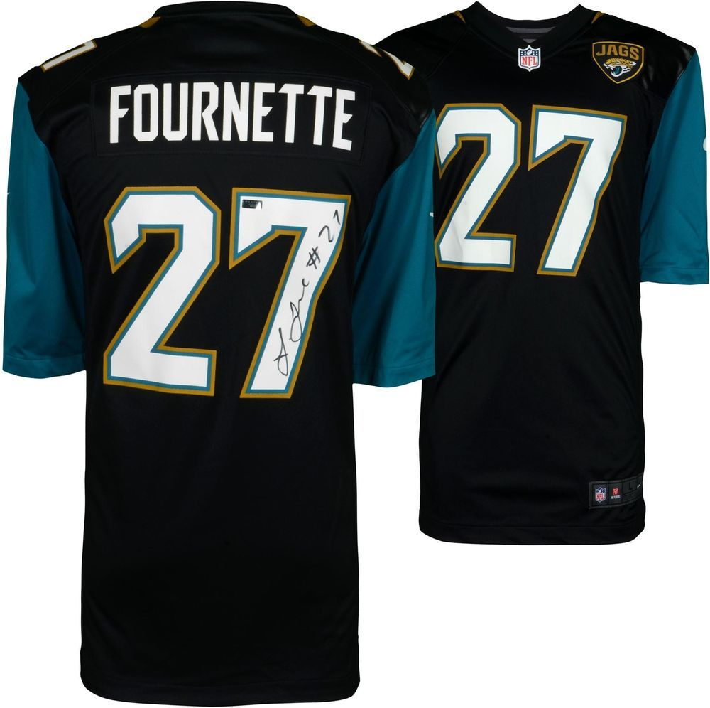 Leonard Fournette Jacksonville Jaguars Signed Black Replica Jersey Panini Football With Images Jacksonville Jaguars Jersey Jaguars