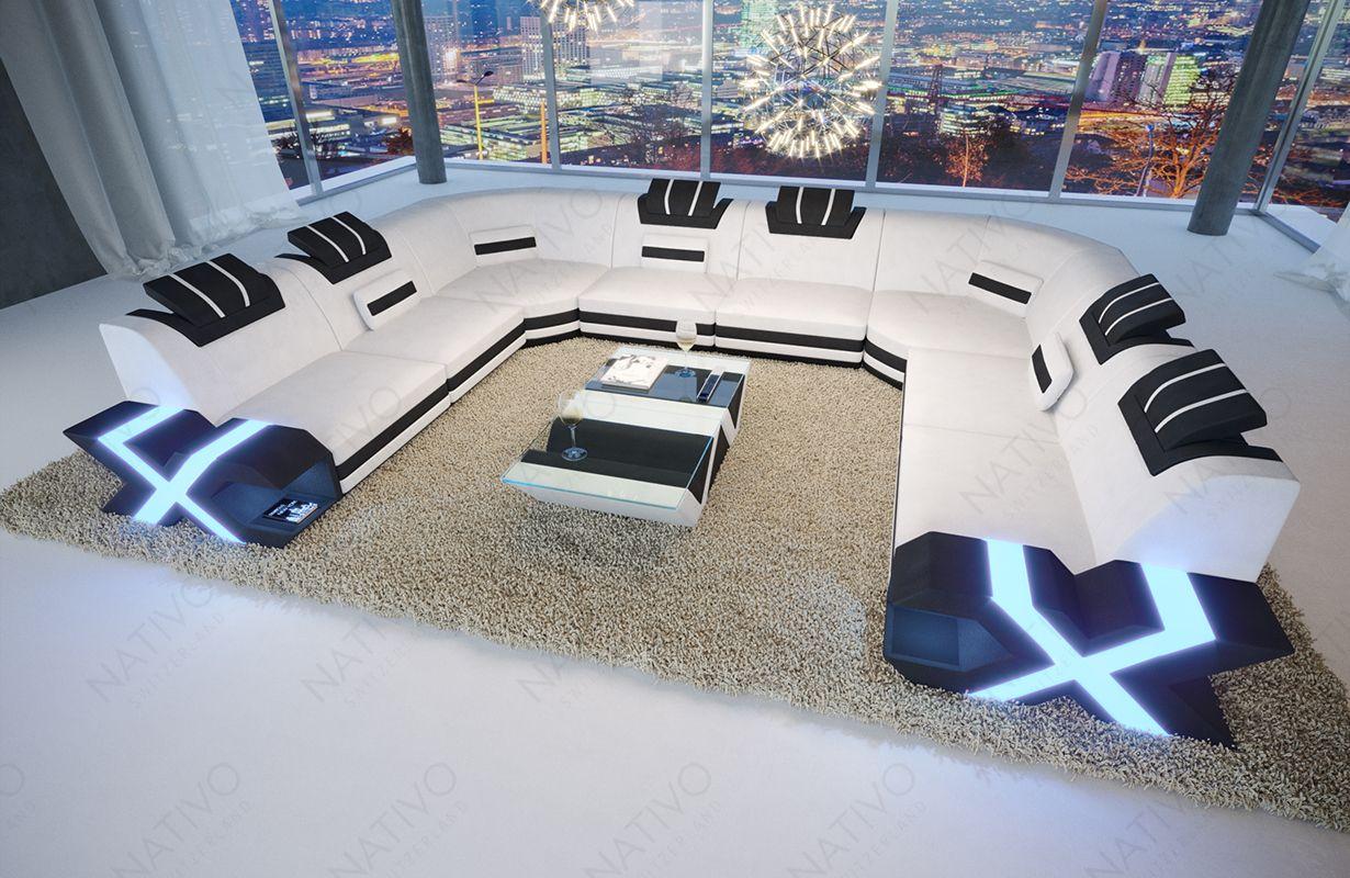 Design Bank Mystique Corner U Vorm Met Led En Usb Nativo Design