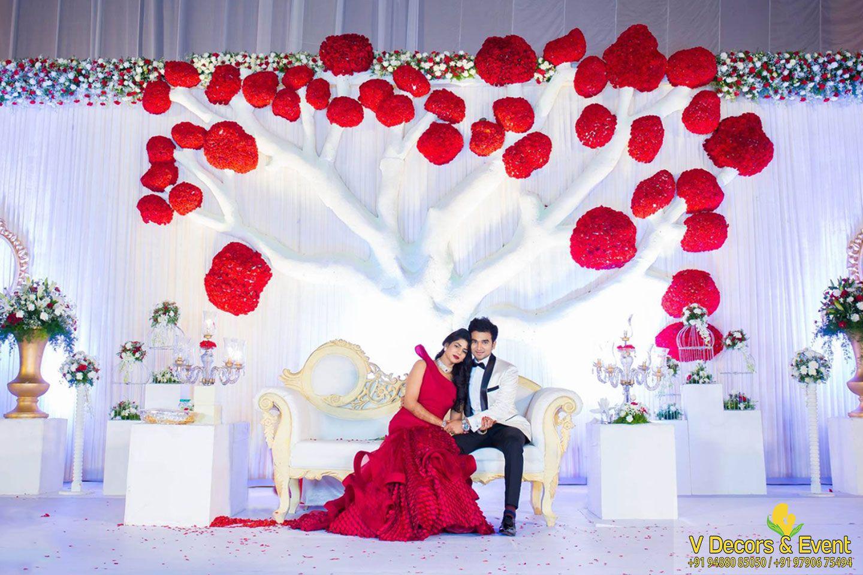 Latest wedding stage decoration  wedding decorations pondicherry  reception decorations pondicherry