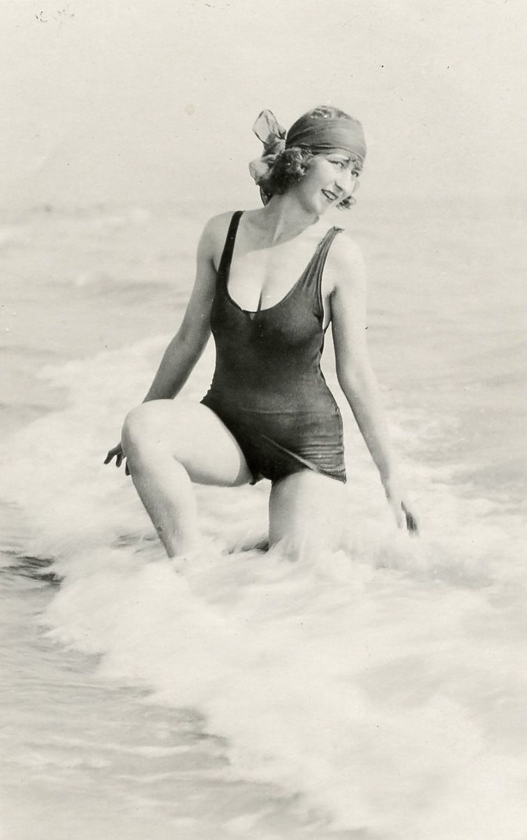 Gladys Wagner Posing At The Beach In San Francisco During