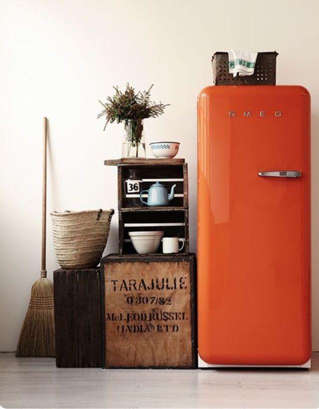 Deco Cuisine Le Style Retro Et Vintage Cuisines Deco Cuisine Vintage Cuisine Orange