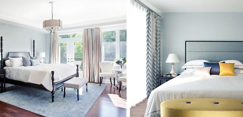 Blue walls bedroom 2 Paint the bedroom walls in blue Pinterest