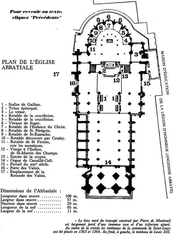 Ground plan of chevet, St Denis Paris 1140-44 #architecture - Plan Maison En Longueur