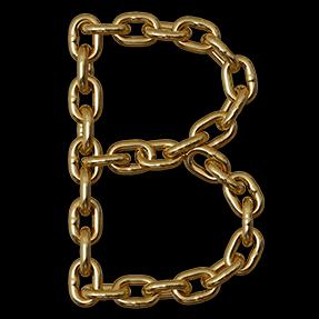 Gold Chain Font Handmadefont Font Setting Gold Chains Raster Image
