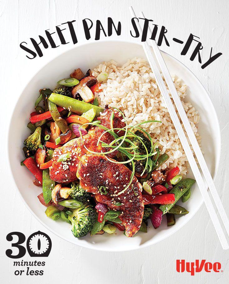 sheet pan stirfry  recipe  healthy chicken dinner