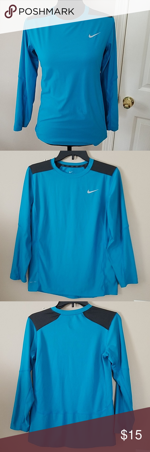 1ce457d2cdd25 Women's Nike Dri-Fit Turquoise Long sleeve shirt L Women's Nike Dri ...