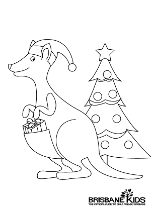 Christmas Colouring Sheets Themed With Australian Animals Draw