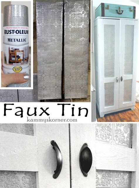 How To Faux Tin Using Wallpaper Spray