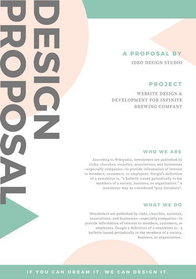 Pastel Shapes Design General Proposal { design inspo } Pinterest
