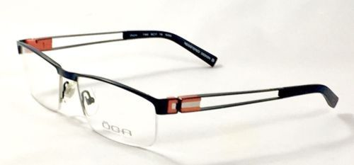new oga 7194o n0050 black mens eyeglasses frames 55 17 135