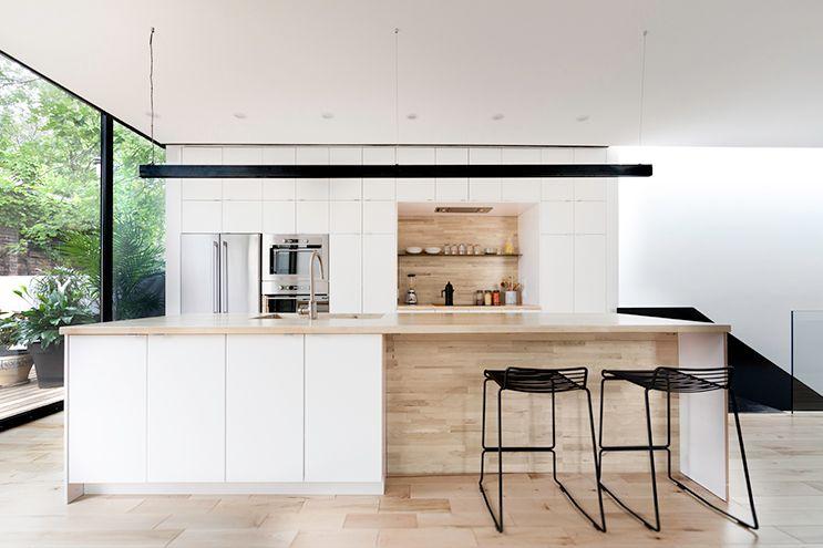 Mooie houten nis in witte keuken keuken keuken ideeën keuken