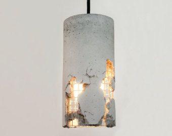 Lampada In Cemento Fai Da Te : Lj lampade delta lampada a sospensione in cemento con cavo