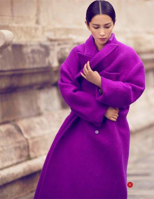 Abrigo color lila