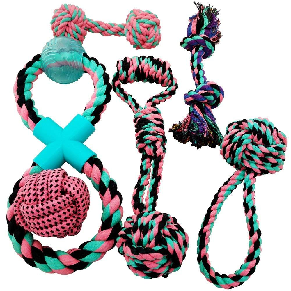 Otterly Pets Puppy Dog Cute Pink Boutique Rope Toys Set Bundle