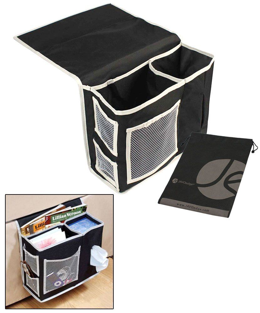 JAVOedge Black Sofa / Couch Storage Attachable Side Bag for Book Tissues Magazine  sc 1 st  Pinterest & JAVOedge Black Sofa / Couch Storage Attachable Side Bag for Book ...
