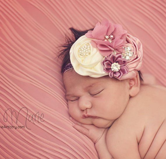 Blush Rose baby headband aebc9014abf