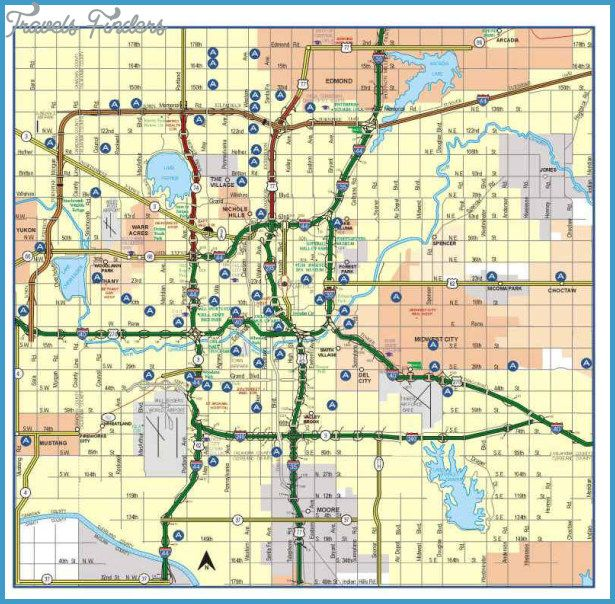 Oklahoma City Map Tourist Attractions Http Travelsfinders Com Oklahoma City Map Tourist Attractions Html Oklahoma City Map City Road Oklahoma City