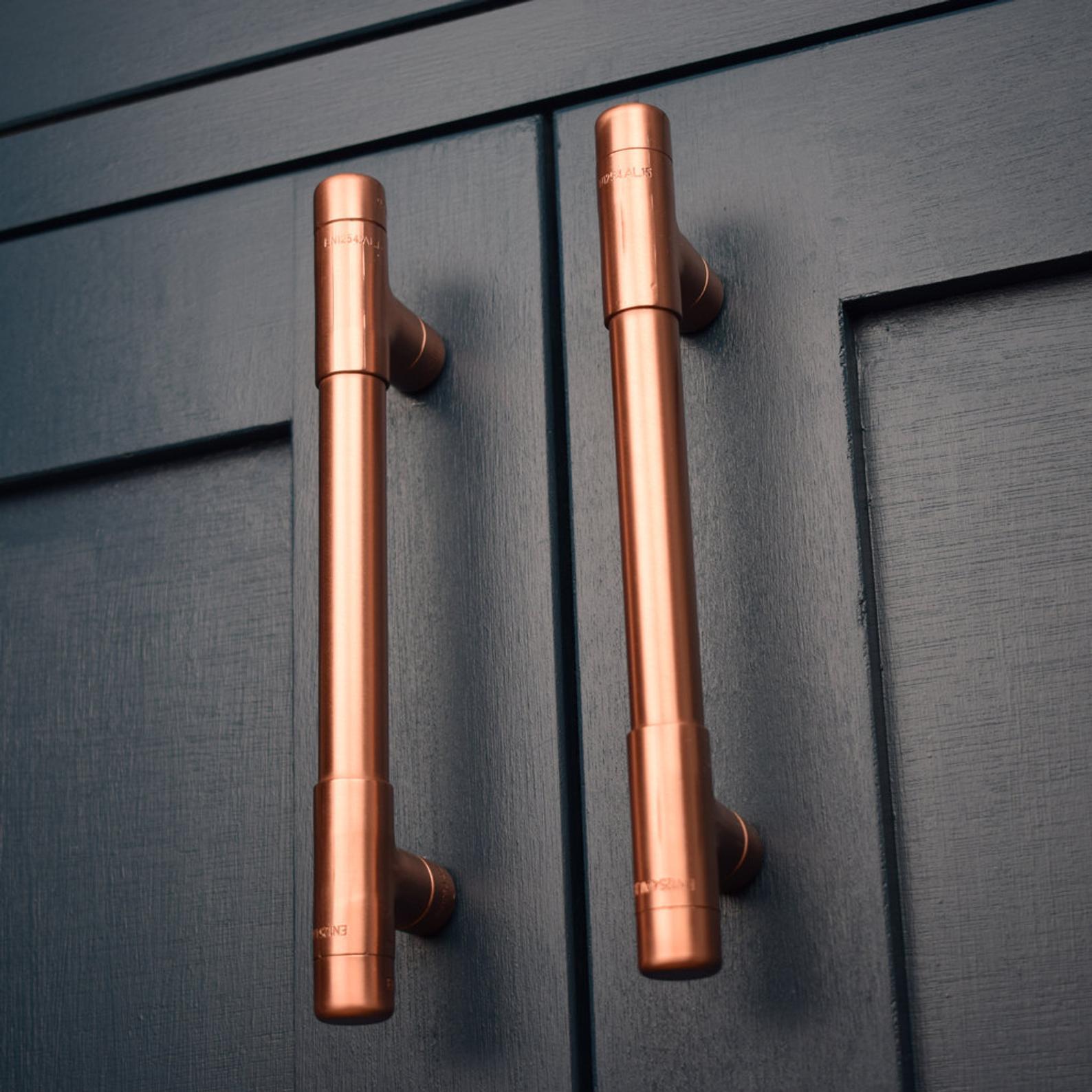 Modern Copper T Pull Handle Drawer Pull Cabinet Hardware Etsy Kitchen Door Handles Kitchen Handles Copper Handles