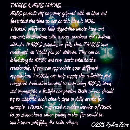 Taurus & Aries Union  So true! We compliment eachother