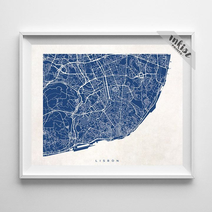 Lisbon Portugal Street Map Print Lisbon Portugal Portugal And Room - Portugal map to print